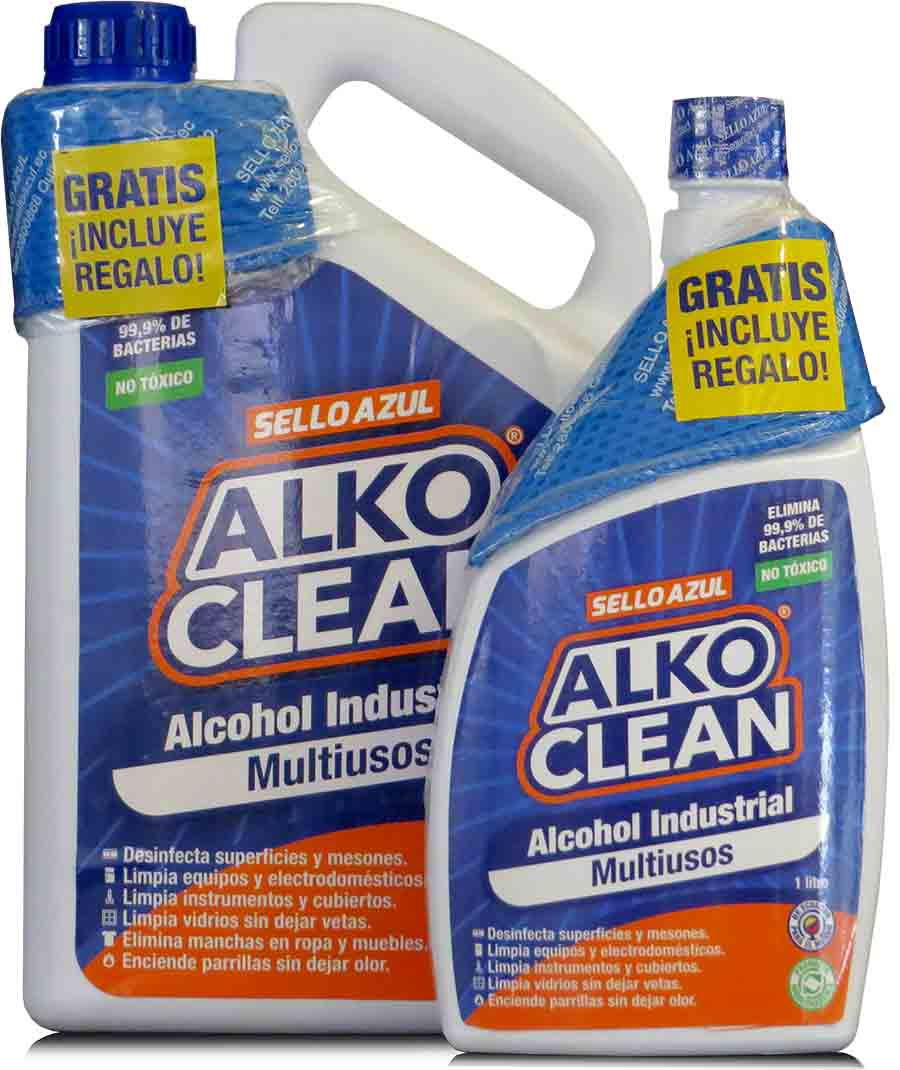 Insumos Sanitarios:  >ALCOHOL INDUSTRIAL MULTIUSOS ALKO CLEAN